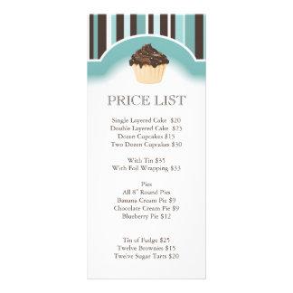 Tabela de preços lunática da padaria 10.16 x 22.86cm panfleto