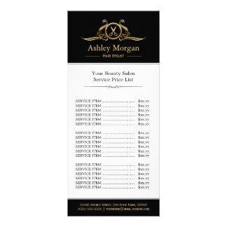 Tabela de preços luxuosa do salão de beleza do 10.16 x 22.86cm panfleto