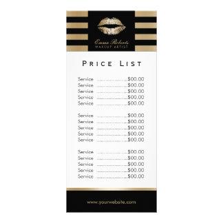 Tabela de preços moderna das listras dos lábios do 10.16 x 22.86cm panfleto