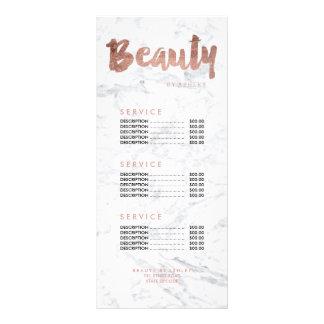 Tabela de preços moderna do mármore da tipografia 10.16 x 22.86cm panfleto