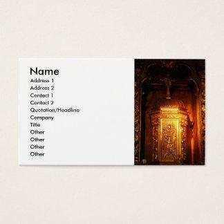 Tabernáculo católico cartão de visitas