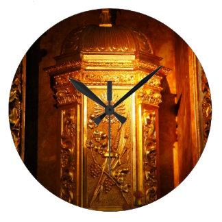 Tabernáculo católico relógio de parede