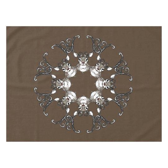 Tablecloth bonito da casa de campo dos cervos do toalha de mesa
