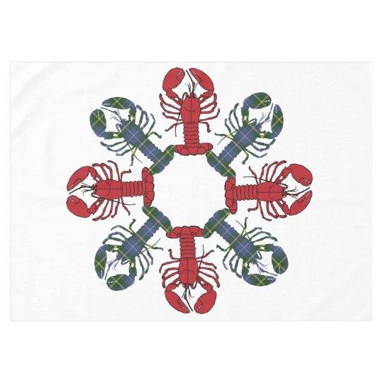 Tablecloth do Natal do floco de neve N.S.Tartan da Toalha De Mesa