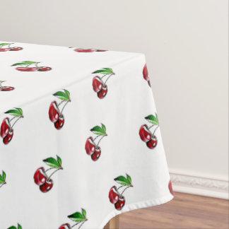 Tablecloth retro de linho da cereja toalha de mesa