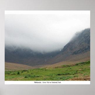 Tablelands, parque nacional de Gros Morne Poster
