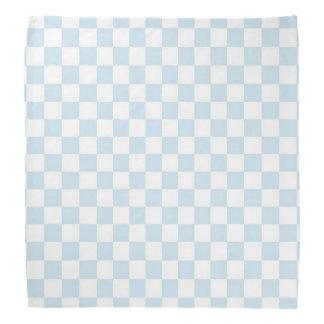 Tabuleiro de damas azul e branco Pastel Lenço