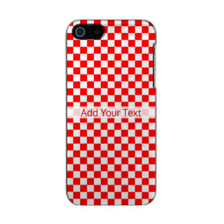 Tabuleiro de damas clássico vermelho e branco por capa metálica para iPhone SE/5/5s