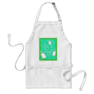 Tabuleiro de damas verde é um menino! avental