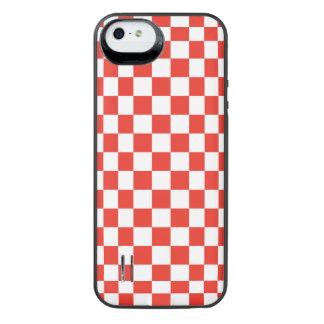 Tabuleiro de damas vermelho capa carregador para iPhone SE/5/5s