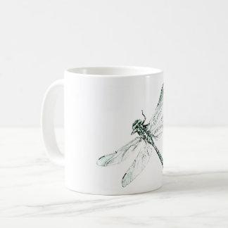 taça de libélula caneca de café