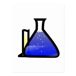 Taças da química cartão postal
