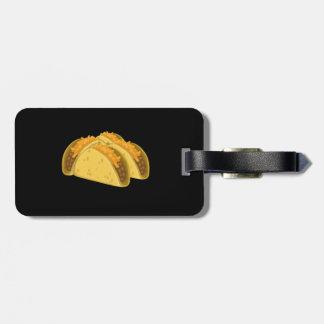 Taco do frio da comida do pulso aleatório tag de bagagem