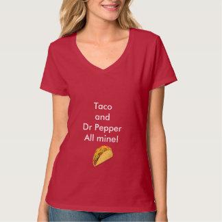 Taco e Dr. Pimenta Mulher V-Pescoço T-shirt Camiseta