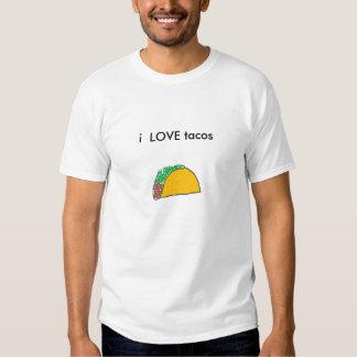 taco, eu AMO o tacos Tshirts