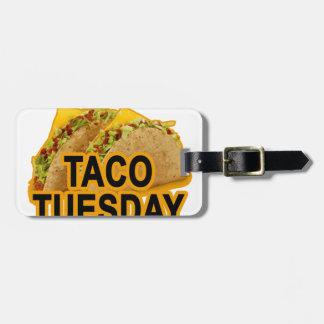 Taco terça-feira tshirt.png etiqueta de bagagem