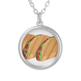 Tacos Colar Banhado A Prata