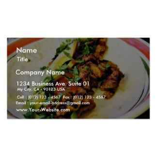Tacos de Carne Asada Modelo Cartoes De Visita
