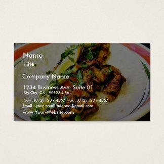 Tacos de Carne Asada Cartão De Visitas