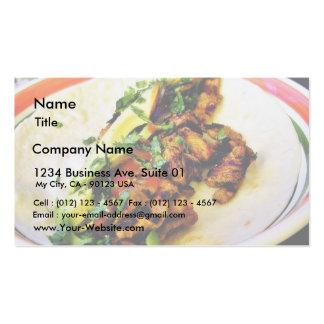 Tacos de Carne Asada Cartões De Visitas