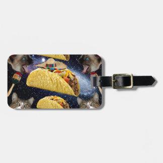Tacos e gatos tag de bagagem
