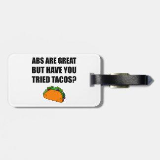 Tacos experimentado do excelente do ABS Tag De Mala