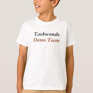 Taekwondo, equipe do programa demonstrativo camiseta
