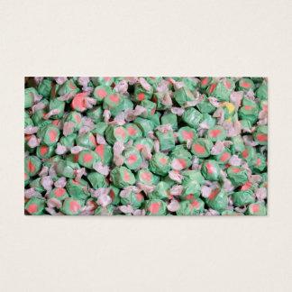 Taffy verde da água salgada cartão de visitas