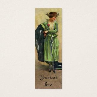 Tag 1920 ou cartão da forma do vintage do costume