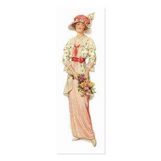 Tag 1920 ou cartão da forma do vintage do costume cartão de visita skinny