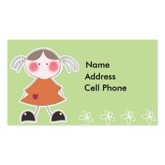 Tag A1 do presente das crianças Cartão De Visita