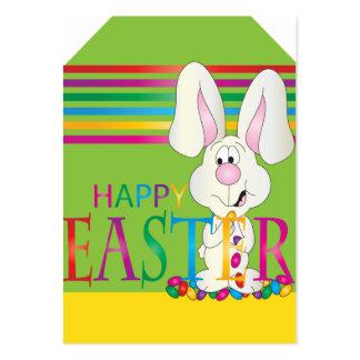 Tag adoráveis do presente do coelhinho da Páscoa Cartão De Visita Grande