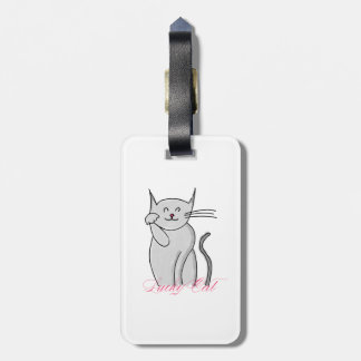 Tag afortunado da bagagem do gato etiqueta de bagagem