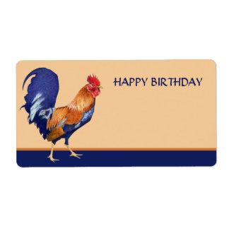Tag alaranjado do presente do feliz aniversario do etiqueta de frete