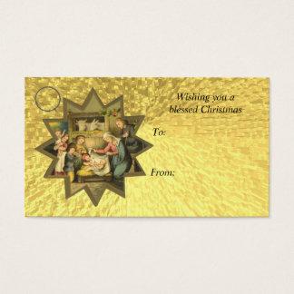 Tag alemão antigo do cartão de presente da