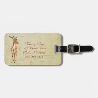 Tag ambarino da bagagem do fanfarrão do vintage etiqueta para bagagem