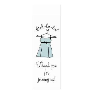 Tag azuis do presente do chá da lingerie cartão de visita skinny