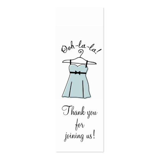Tag azuis do presente do chá da lingerie modelos cartoes de visitas