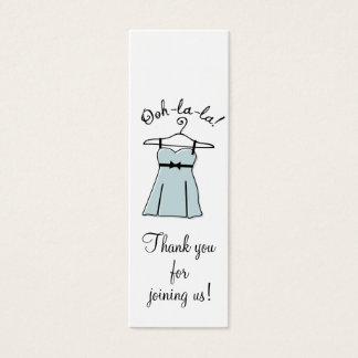 Tag azuis do presente do chá da lingerie cartão de visitas mini