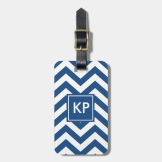 Tag azul personalizado monograma da bagagem de etiqueta de bagagem
