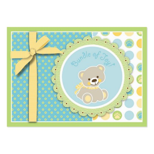 Tag bem-vindo do presente do urso cartoes de visitas