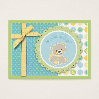 Tag bem-vindo do presente do urso cartão de visitas