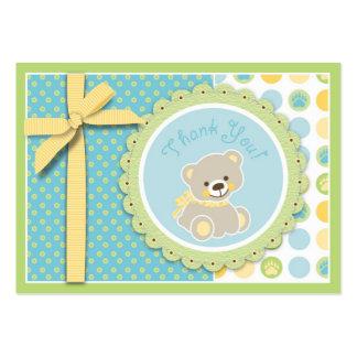 Tag bem-vindo do presente do urso TY Cartões De Visita