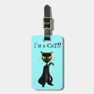 Tag bonitos de Luggagge do gato preto Etiqueta De Mala
