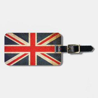Tag britânico da bagagem da bandeira de Union Jack Etiqueta De Bagagem