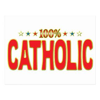 Tag católico da estrela cartão postal