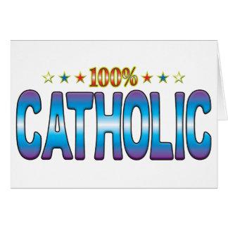 Tag católico v2 da estrela cartões