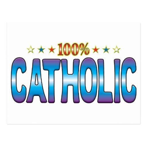 Tag católico v2 da estrela cartao postal