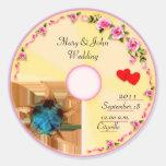 Tag CD do favor do casamento da etiqueta Adesivo