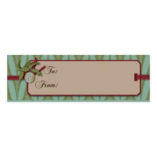 Tag chique do presente do Natal Modelo De Cartões De Visita